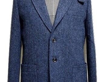 Tweed Jacket/ Men's Suit Jacket/ Hand Made Jacket/ Custom Fitted Jacket
