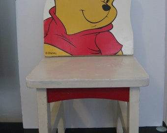 Vintage 1980u0027s Disney Childu0027s Chair   Winnie The Pooh   All ...