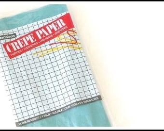 Vintage Dennison Crepe Paper - Ice Blue - New Old Stock Crepe Paper