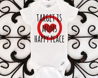 Target is moms happy place onesie, target onesie, funny onesie, baby onesie, baby bodysuit