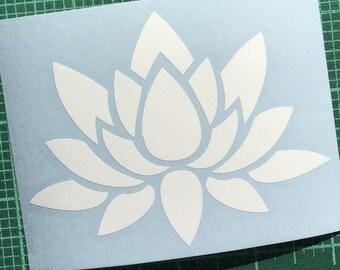 white Lotus or pink and green Lotus vinyl decal