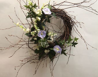 Spring Morning Glory Wreath