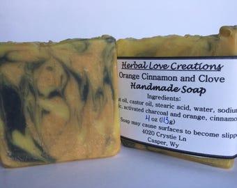 Orange, Cinnamon and Clove Soap//