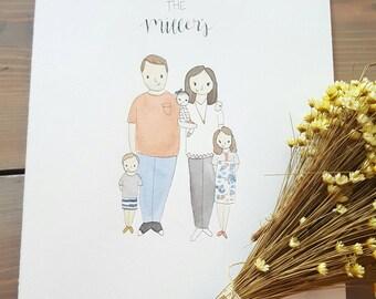Custom Family Watercolor Portrait