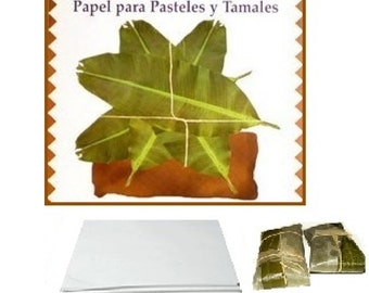 Parchment Paper Outer Wrap for Pasteles or Tamales 75 pieces pack