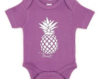 Organic Cotton Sweet Pineapple Short Sleeve Bodysuit