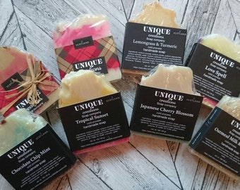 SPECIAL OFFER.  8 bars of soap for only 20 pounds. Aromatherapy.  Cold process soap.