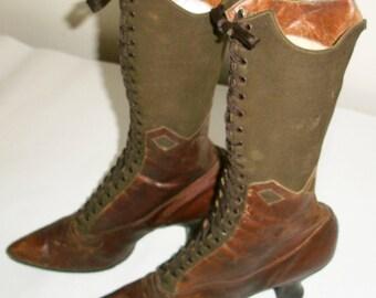 Unique Brown Victorian Boots