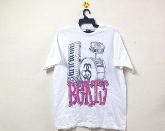 Rare!!! Stussy T-shirt Pop Art Beat Drum Skateboard New York Skate Streetwear