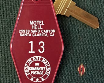 Sale!  Cult Classic Motel Hell Keychain Vintage Horror Movie Collectible A Rare Find  FREE SHIPPING!