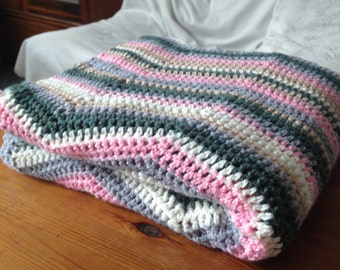 Crocheted Chevron Throw