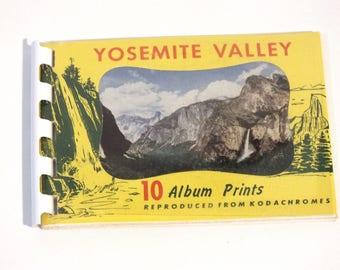 Vintage Souvenir Booklet 10 Album Prints Yosemite Valley California Vacation 1950's 1960's