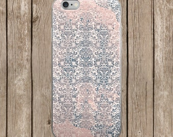 Pink and Gray Design iPhone Case | iPhone 5/5s/SE | iPhone 6/6s | iPhone 6 Plus/6s Plus |  iPhone 7 | iPhone 7 Plus