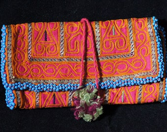 Collectible Ethnic Afghan Pashtun Embroidery Purse Wallet Pouch T 594