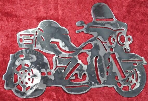 """Trike Motorcycle 12"""", Biker, Three Wheel Motorcycle, Metal Art, Metal Wall Art, Metal Decor, Metal Motorcycle, Biker Chic, Biker Guy, Gift"""