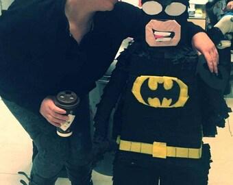 Leggo inspired Batman piñata!