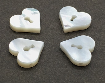 5pcs Mother Of Pearl Heart Beads ,12*11mm Heart Beads For Jewelry Making