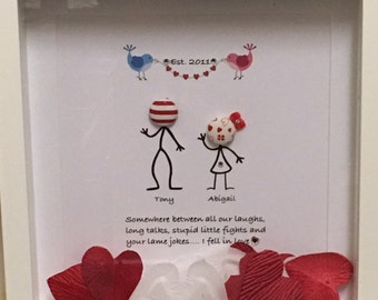 Valentines anniversary frame Personalised gift