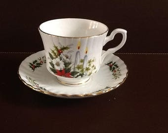 Classic Royal Stafford Christmas Teacup and Saucer