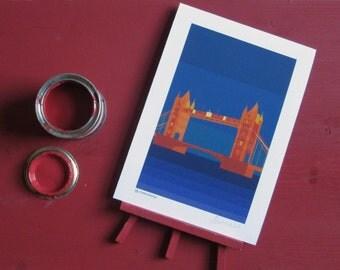 Print of Tower Bridge, London landmark