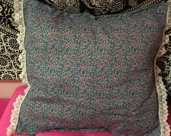 Floral and Lace Pillow