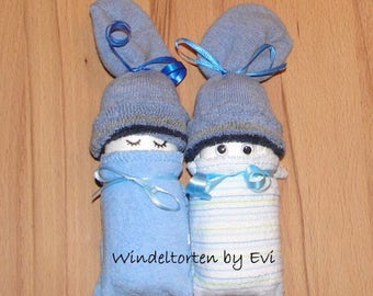 Diaper babies / Windelbabies for boy, baby gift birth