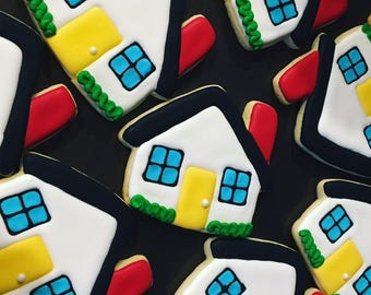 House Decorated Sugar Cookies