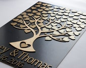 3d wedding guest book Guestbook alternatives Wedding guest book personalized Natural wood wedding guest book alternatives tree and hearts
