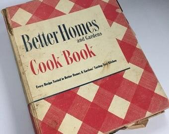 Better Homes and Gardens Cook Book - 1949 Vintage Cookbook - 1940s Cookbook - Vintage Kitchen - Recipe Collection - Binder Cookbook