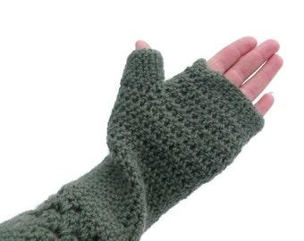 Crochet Fingerless Gloves, Long Gloves, Cycling Gloves, Fingerless Gloves, Arm Warmers, Long Hand Warmers, 100% Wool, Gift For Her