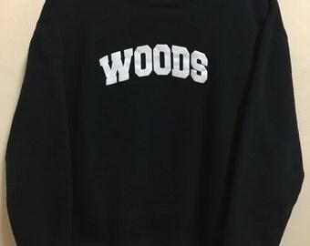Vintage 90's Woods Canada Sport Classic Design Skate Sweat Shirt Sweater Varsity Jacket Size L #A744