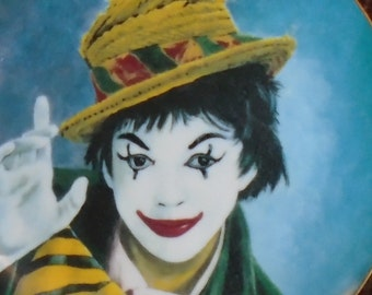 """Celebrity Clowns - Judy Garland - Second in series from painting by Jon Helland - #3544 of 12,500 plates - 1982 - No Papers or Box - 10 1/4"""""""