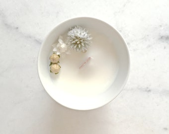 Little flower candle - wax of soy - ginger essential oil - Vegan - Made in France / / gifts for her / / Decoration wedding