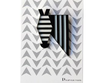 Zebra brooch, FREE SHIPPING