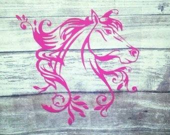 Horse Decal, Yeti Decal for Women, Car Accessories, Window Sticker, Yeti Cup Decal, Horse Sticker, Horse Yeti Decal, Horse Car Decal