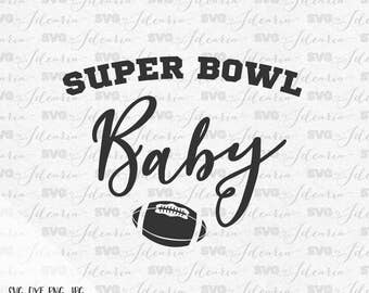 Super Bowl Baby Svg, Football Svg, football mom svg, baby svg, mama svg, newborn svg, baby boy svg, baby girl svg, dxf, heart svg, vinyl svg
