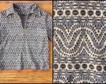 1960's/1970's Hippie Earthy Boho Cropped Sweater