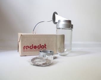 Vintage Red Dot outdoor light fixtures 200w industrial style lamp NOS - FREE SHIPPING