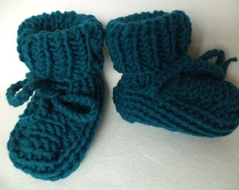 Baby boots knitted socks booties Merino Wool