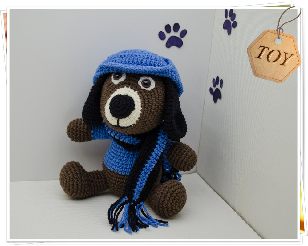 Crochet Dog Toy Amigurumi Dog Toy Stuffed Dog Toy Soft Dog