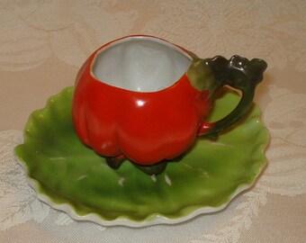 Royal Bayreuth Tomato Cup & Saucer Demitasse
