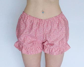 Adult Bloomers - Sissy Lingerie - Pink Floral Bloomers - Low Rise - Sissy Boy - Lolita