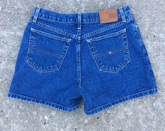 Tommy Hilfiger Dark Denim Mid Rise Boyfriend Shorts - Size 4
