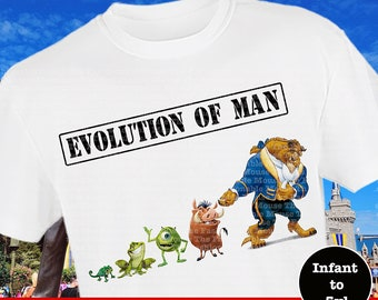 Disney Men's Shirt, Funny Disney Shirt, Beast Shirt, Mike Wazowski Shirt, Pumba Shirt, Naveen Shirt, Pascal Shirt, Men's Disney Shirt