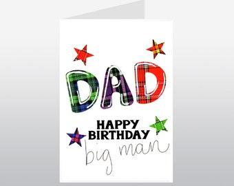 Tartan Words Dad Birthday Card WWTW02