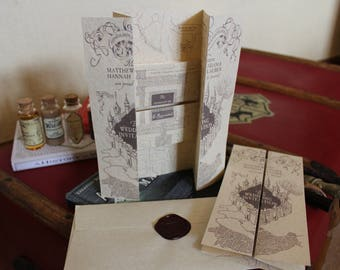 Harry Potter Marauders Map Wedding Invitation sample!