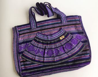 Mexican Multicolor Woven Bag Mexican Purse Pinzon Ethnic Bag Boho Hipster
