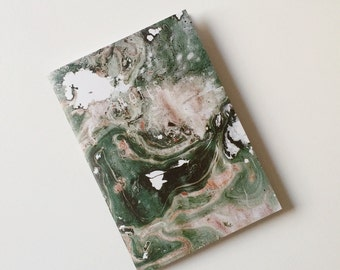 Nova Marble Print A5 Paperback Notebook With Lined Paper