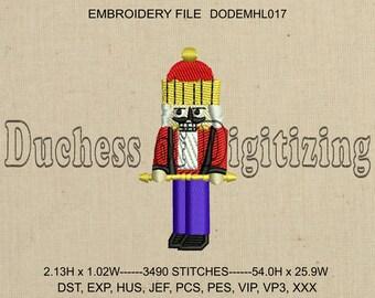 Nutcracker Embroidery Design, Nutcracker Embroidery File, Christmas Embroidery Design, Christmas Embroidery File, DODEMHL017
