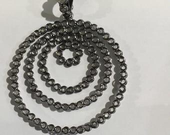 white topaz pendant